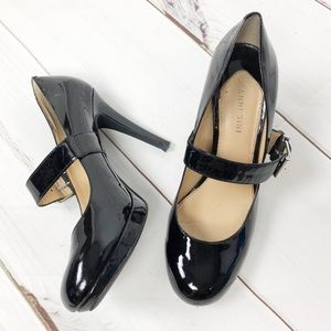 Gianni Bini blk patent leather MaryJane heels 8.5